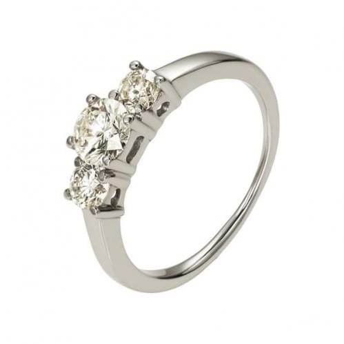 Серебряное кольцо с фианитом КВ251с