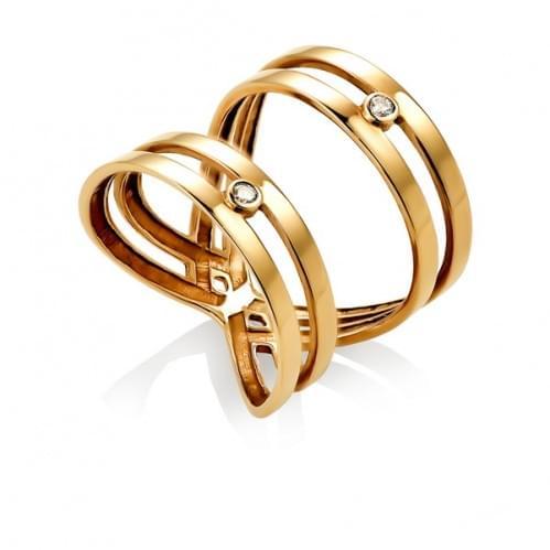 Золотое кольцо с фианитом КВ311и
