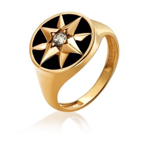 Золотое кольцо с фианитом КВ3341р