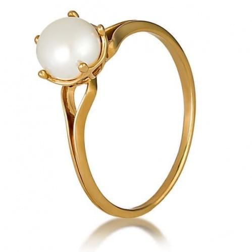 Золота каблучка з перлами КВ342и