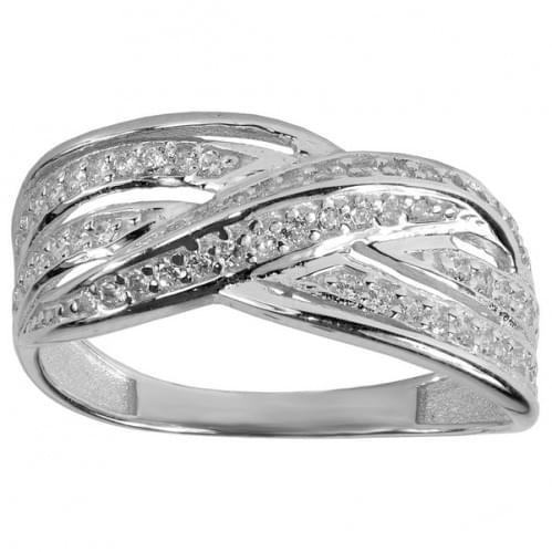 Серебряное кольцо с цирконием КВ356с