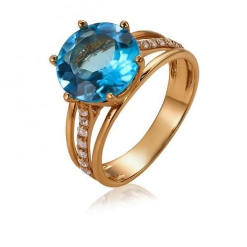 Золотое кольцо с топазом КВ364(2).12101н