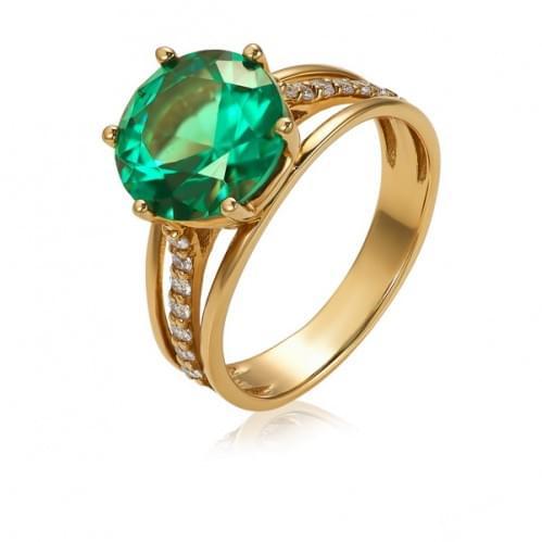 Золотое кольцо с кварцем КВ364(2).14207н