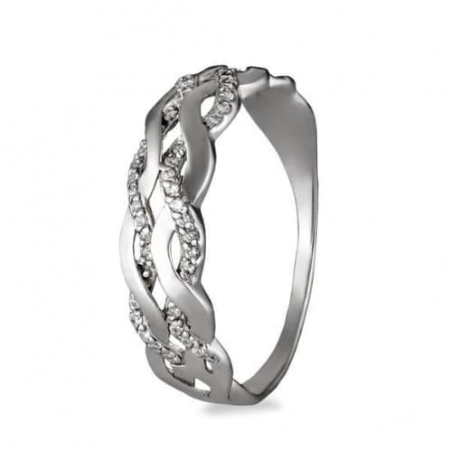Серебряное кольцо с фианитом КВ370с