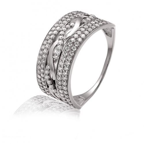 Серебряное кольцо с фианитом КВ371с