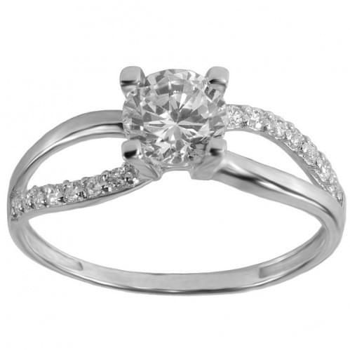 Серебряное кольцо с фианитом КВ385с