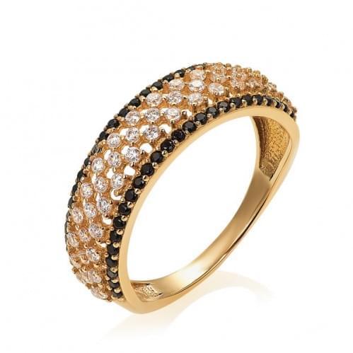 Золотое кольцо с цирконием КВ398.010и