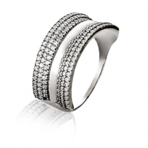 Серебряное кольцо с фианитом КВ424с