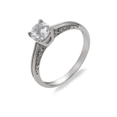 Серебряное кольцо с фианитом КВ437с
