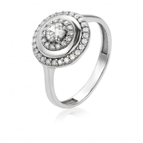 Серебряное кольцо с фианитом КВ440с
