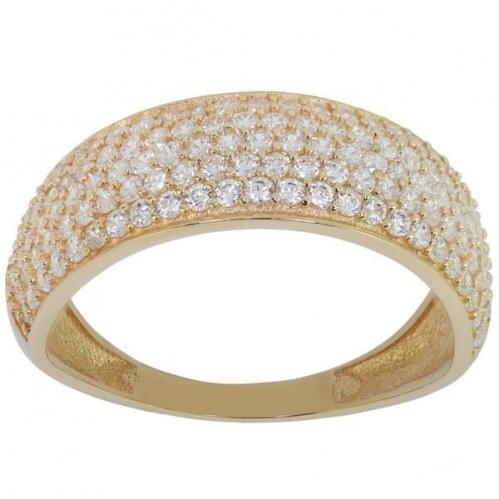 Золотое кольцо с фианитом КВ444и
