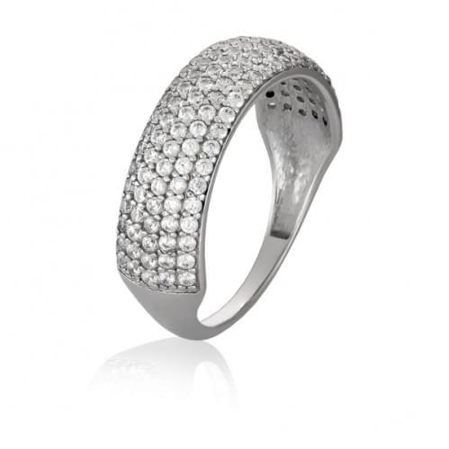 Серебряное кольцо с фианитом КВ444с