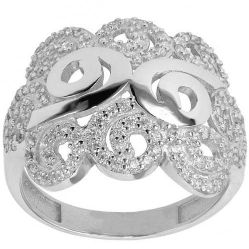 Серебряное кольцо с цирконием КВ451с