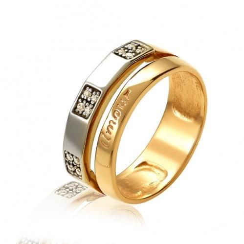 Золотое кольцо с фианитом КВ469(2)и