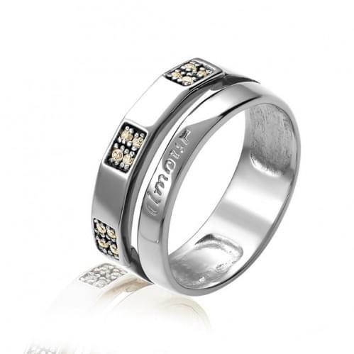 Серебряное кольцо с цирконием КВ469(2)с