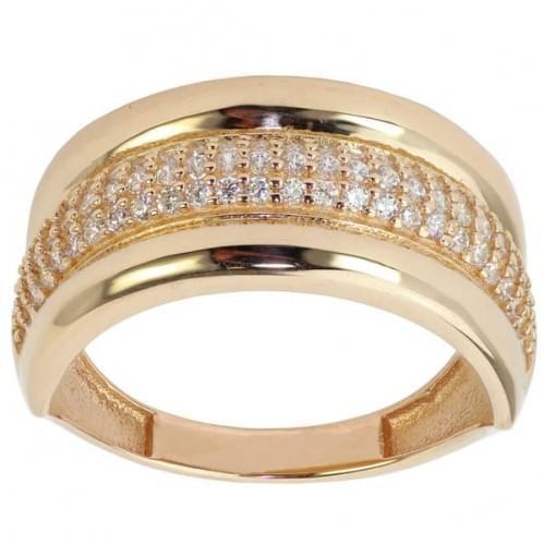Золотое кольцо с цирконием КВ472и