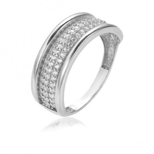 Серебряное кольцо с фианитом КВ472(2)с