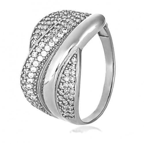 Серебряное кольцо с фианитом КВ487с