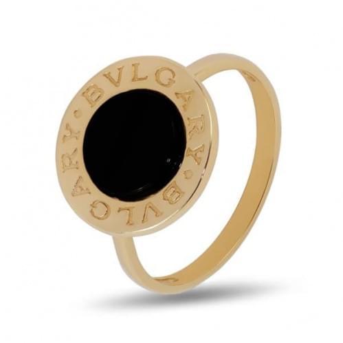 Кольцо золотое с ониксом