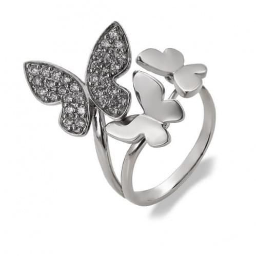 Серебряное кольцо с фианитом КВ511с