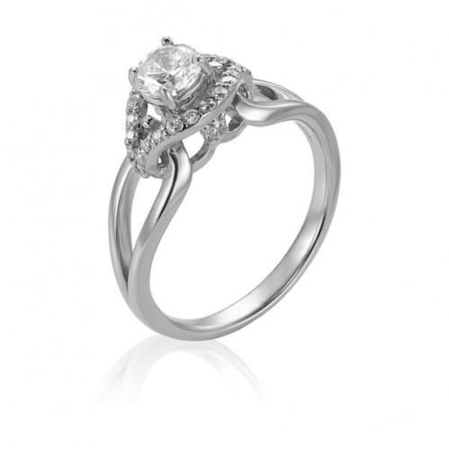 Серебряное кольцо с фианитом КВ529с