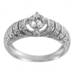 Серебряное кольцо c цирконием
