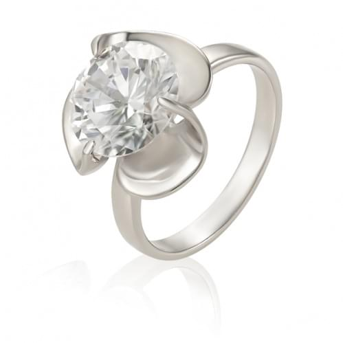 Срібний перстень з фіанітом КВ552с