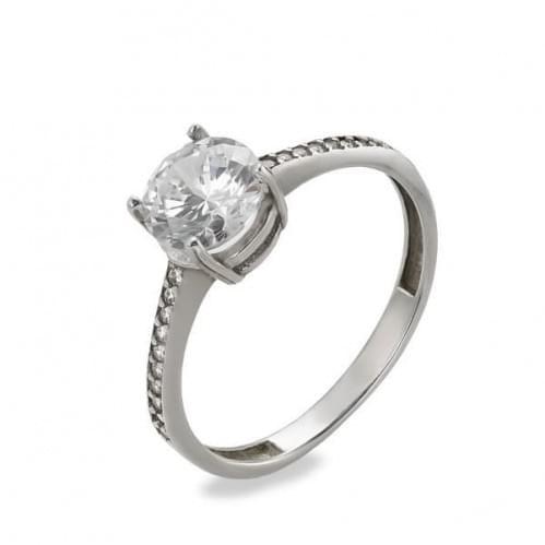 Кольцо из белого золота с фианитом КВ561Би
