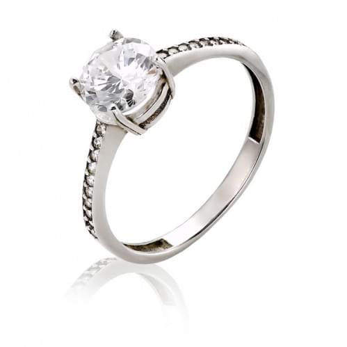 Серебряное кольцо с фианитом КВ561с