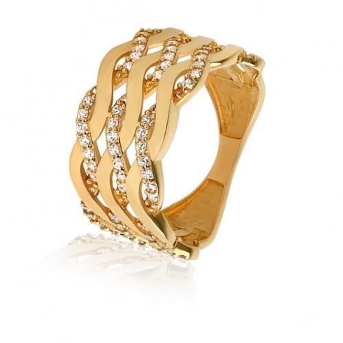 Золотое кольцо с фианитом КВ588и