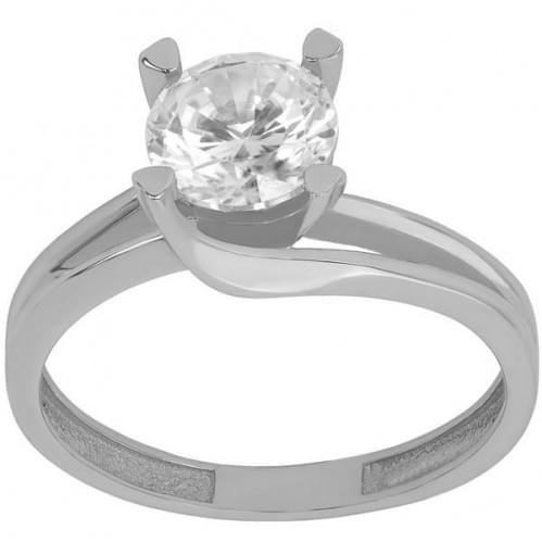 Серебряное кольцо с фианитом КВ608с