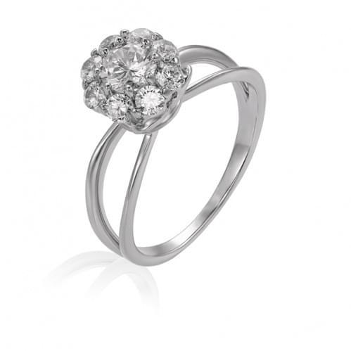 Серебряное кольцо с фианитом КВ630с