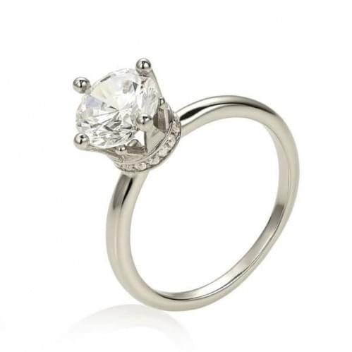 Серебряное кольцо с фианитом КВ634с