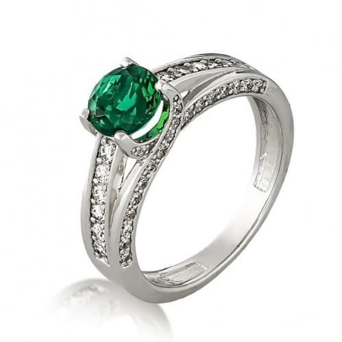 Серебряное кольцо с фианитом КВ642с