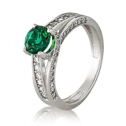 Серебряное кольцо с фианитом КВ642.07с