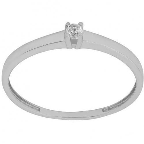 Кольцо из белого золота с фианитом КВ681Би