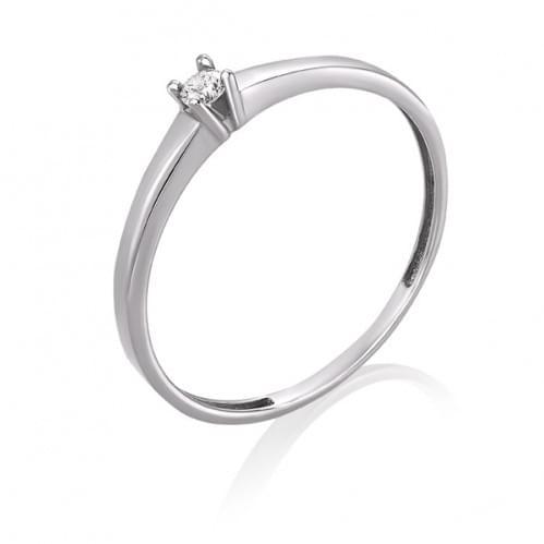 Каблучка з білого золота з діамантом КВ681.00100Бн