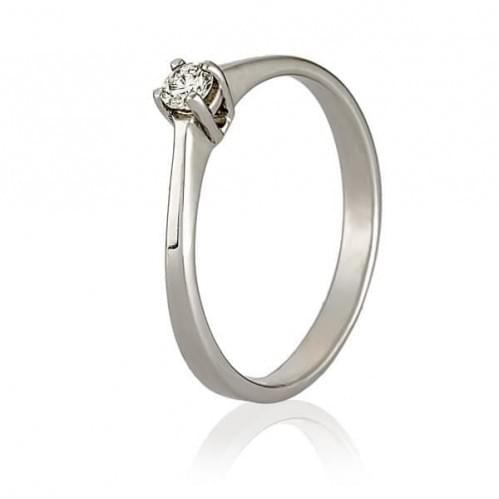 Кольцо из белого золота с фианитом КВ683Би