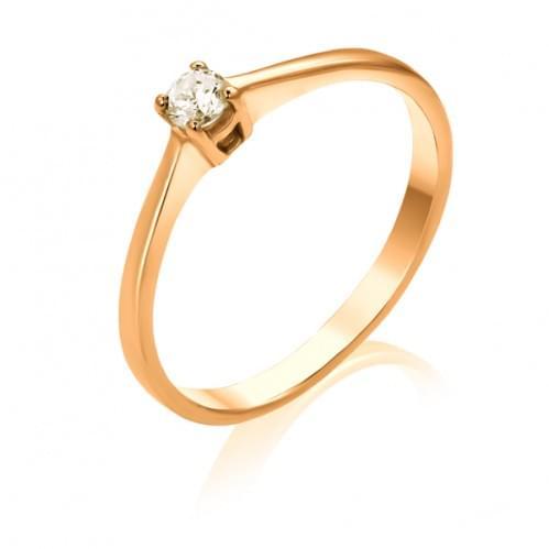 Золотое кольцо с бриллиантом КВ683.00100н