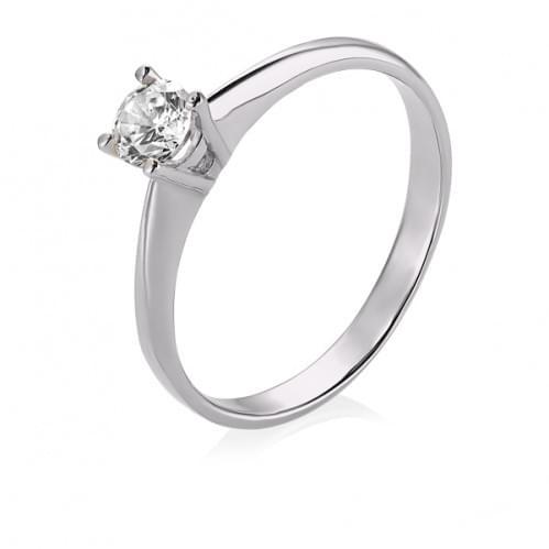 Кольцо из белого золота с бриллиантом КВ689.00100Бн