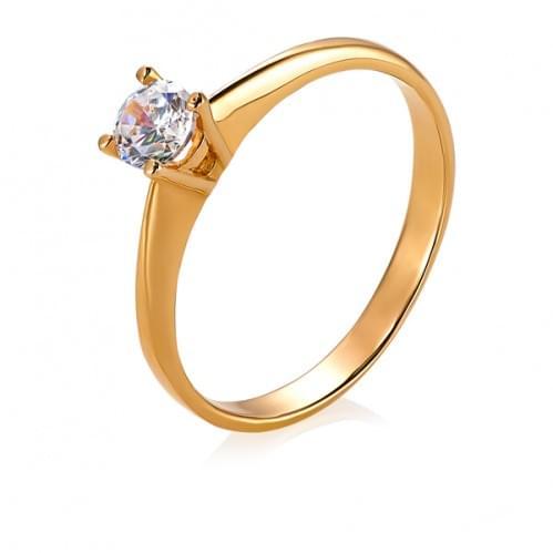 Золотое кольцо с бриллиантом КВ689.00100н