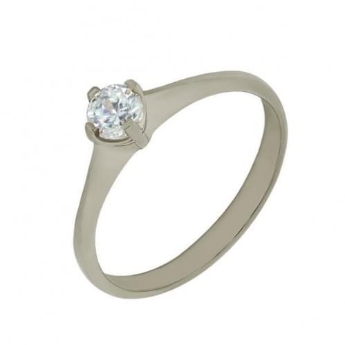 Кольцо из белого золота со вставкой КВ690Бн