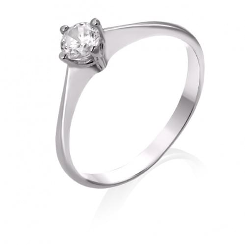 Кольцо из белого золота с бриллиантом КВ690.00100Бн