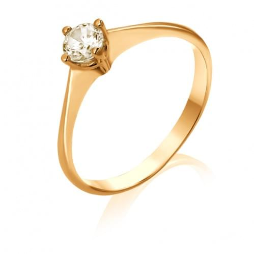 Золота каблучка з діамантом КВ690.00100н