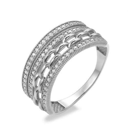 Серебряное кольцо с фианитом КВ696с
