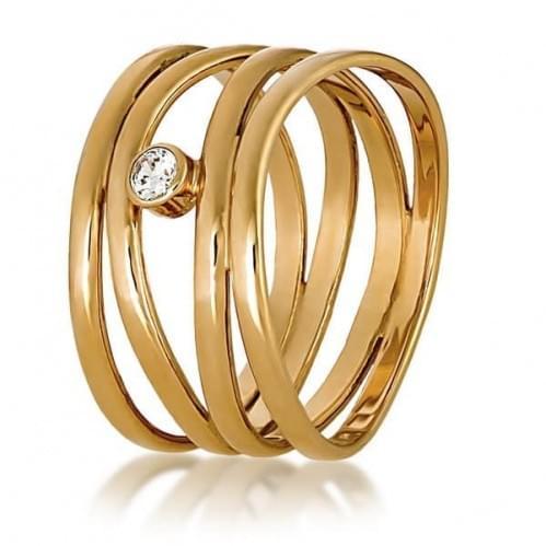 Золотое кольцо с фианитом КВ699и