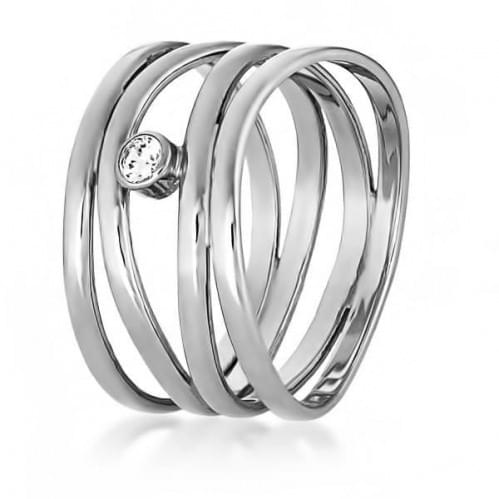 Серебряное кольцо с фианитом КВ699с