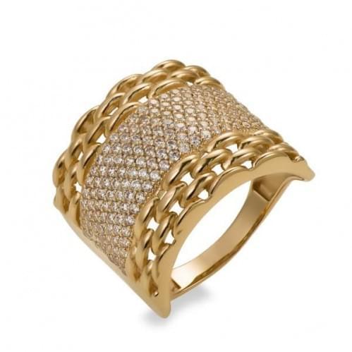 Золотое кольцо с фианитом КВ700и