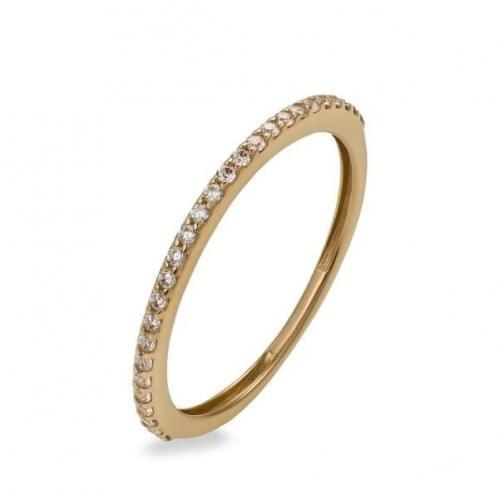 Золотое кольцо с фианитом КВ713и