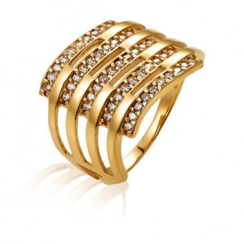 Золотое кольцо с фианитом КВ714и